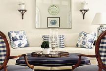 Blue & white done right / Blue and White: a classic combination in cultures around the world.  But if overdone, it can be heavy and cloying.  Here are some rooms that got it right!