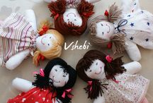 Vshebi Dolls / Here we post about dolls my mom and I did.