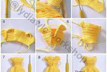 Mini dresses for dolls