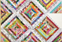 Scrappy/strip quilts
