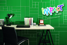 Impact Glass / Our signature collection of all things glass – tiles, splashbacks, upstands and borders in 30 amazing colours and 18 different sizes, Impact makes a bold statement when used alone or adds interest to any wall already adorned in ceramic or stone tiles. Be different, add Impact.