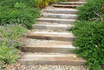 Treppen im Garten