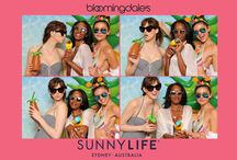 SunnyLife Australia Photo Booth @ Bloomingdales NYC! #summerisblowingup / sunnylife australia, watermelon, pineapple, swimming pool backdrop, tropical chic, beach, summer, blow up floats, #summerisblowingup