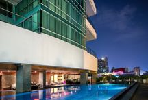 Bangkok condominium and apartment pools / Pictures of pools in Bangkok at various residential projects.