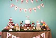 Caden's 2nd bday Red Wagon Vintage Theme / by Mika T