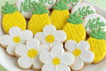 Hawaii Decorated Cookies