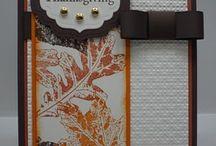 Stampin' Cards - Autumn/Fall