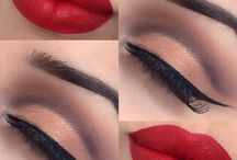 Make-up / Cat eyes, red lips