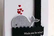 Oh, Whale- Retired / Made using Stampin' Up! Oh, Whale (retired) stamp set.