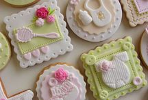 Galletas baby shower y bautizos