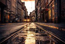 Város és tájképek