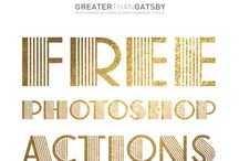 FREE Photoshop Actions / Free Photoshop Actions from Greater Than Gatsby.