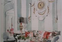 room design using watercolor