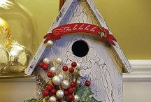 Bird Houses & Templates/ Patterns / off the page