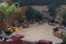 Kiddies' outdoor areas
