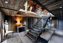 Chalet / I love Chalets/cabins and the interior is so Cozy, Warm and Lovely