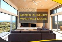 Imperial Aluminium Doors / Imperial range of doors compliment a variety of housing designs, providing the ultimate in indoor/outdoor living or the perfect entrance.