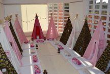 Festa  do Pijama da Sofia / Festa do Pijama - Teepee - Sleepover - Festa Infantil - Cabanas - Personalizados - Alegria - Diversão - Crazy for Tents