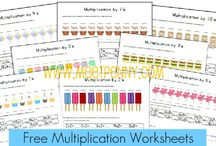 Multiplication activities / Math board focusing on multiplication ages 5-9