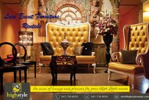 Lounge and Luxe Furniture Rentals NYC / Plan the perfect wedding, event and party with High Style Rentals in NYC that offering an exclusive line of luxury lounge event furnishings and decor at affordable prices.
