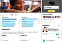 LinkedIn - Studenten / Gebruik van LinkedIn voor studenten.  Nieuwe functionaliteit Youniversity & decisionboard. Een studieadvies en carriereplanning