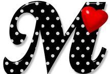 lettre M et P