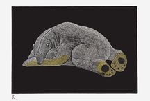 Cape Dorset Prints 2014 / As of today all works are available for purchase. As always  per the regulations *Frequent Buyer Discounts* do not apply to this release. Please direct all inquiries to simon@inuit.net or call Toll Free 1 888 228 8210.