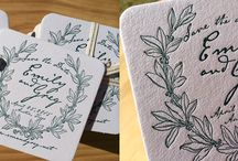 Letterpress Coasters / Cool places to set a drink.  Cool spin on the letterpress save the date