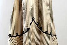 striped historic fashion