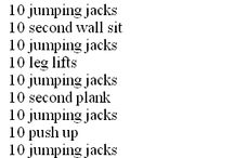 training ideas...