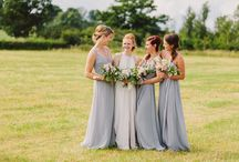 Katie and Wayne, August. Salford Hall, Stratford upon Avon / A garden party themed marquee wedding with relaxed pastel summer flowers.
