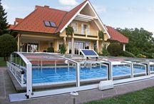 Motorized pool enclosures / Moving with segments are now even easier then before thanks to motorized sliding segments