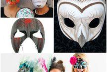 Creepy Masks As A Halloween Craft Idea