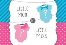 Little man or little miss? / Gender Reveal Baby Shower Ideas