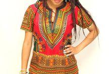 African Print Dresses & Shirts