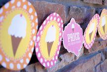 Ice Cream Pink Yellow & Orange Party