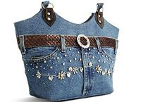 Denim bags from the web