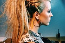 rock hiukset