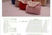 かぎ針編み がま口 ポーチ