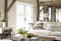 Lake House Great Room / The general gathering area around the stone fireplace / by Kari Clevinger