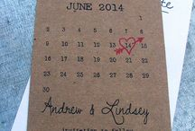 Save the date inspiration / It's probably the first thing your guests will receive...so make sure it does the trick!