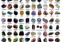 stenen / edelstenen, halfedelstenen, mineralen en kristallen.
