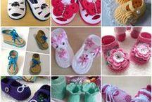 Chaussons de bébé en crochet