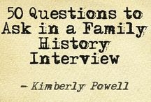 Memoirs, Histories & Interview Questions - Family Lines