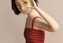illustrazione 3d e scultura