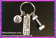 Fitness gym inspired accessories