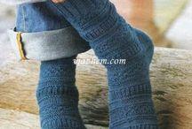 вязание носки мужские