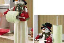 boneco neve porta papel