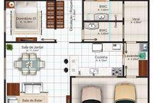 planos casas 100 m