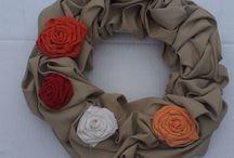 Textilní věnce s kytičkami